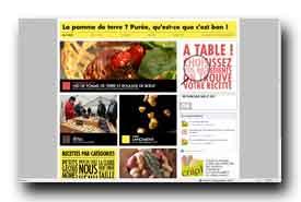 screenshot de www.recettepommedeterre.com