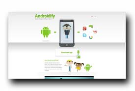 screenshot de androidify.com