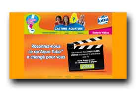 screenshot de www.casting-aquatube.fr
