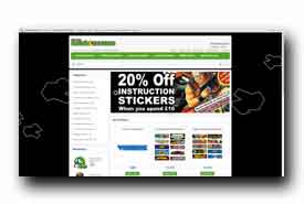screenshot de www.arcadestickers.co.uk