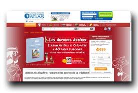 screenshot de www.editionsatlas.fr/collection/archives-asterix/asterix-et-cleopatre.html
