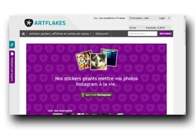 screenshot de www.artflakes.com/artsticker