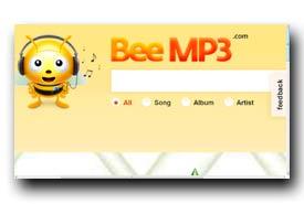 screenshot de www.beemp3.com