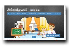 screenshot de www.beloteenligne.com