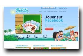 screenshot de www.beloteenligne.fr
