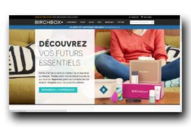 screenshot de www.birchbox.fr