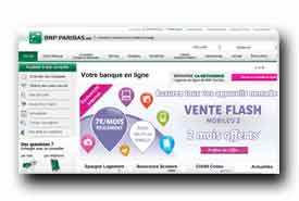 screenshot de www.bnpparibas.net
