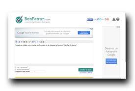 screenshot de www.bonpatron.com