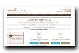 screenshot de www.brownessentielles.com