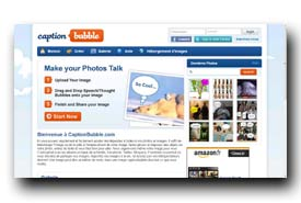screenshot de www.captionbubble.com