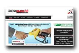 screenshot de www.carburantpro-intermarche.com