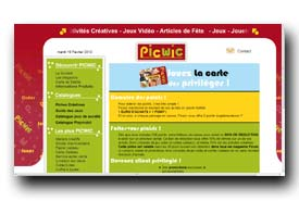 screenshot de www.picwic.com/carte_fidelite.asp