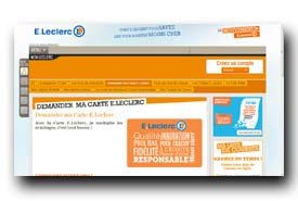 screenshot de www.carteleclerc.com