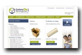 screenshot de www.cartonsdedemenagement.com