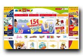 screenshot de maxitoys.fr/catalogue-maxitoys/