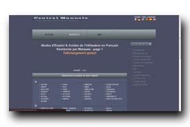 screenshot de www.central-manuels.com