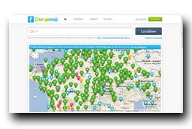 screenshot de fr.chargemap.com