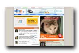 screenshot de www.clicanimaux.com
