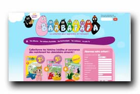 screenshot de www.collection-barbapapa.fr