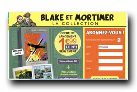 screenshot de www.hachette-collections.com/livres-et-bd/collection-bd-blake-et-mortimer