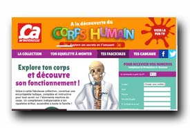 screenshot de www.collection-corpshumain.fr