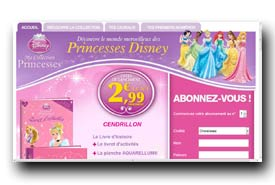 screenshot de www.collection-disneyprincesses.com