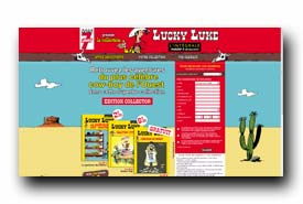 screenshot de www.collectionluckyluke.fr