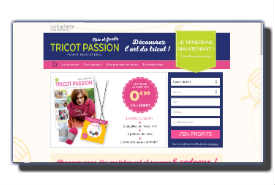 screenshot de www.collection-tricotpassion.com