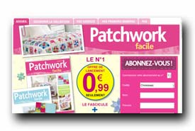 screenshot de www.collection-patchworkfacile.com