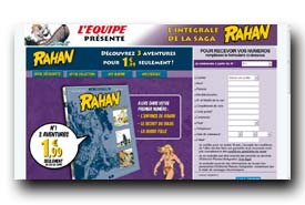 screenshot de www.collection-rahan.fr