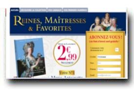 screenshot de www.collection-reines-maitresses.com