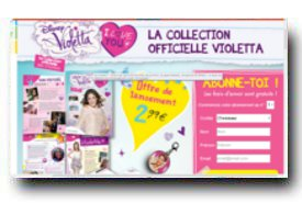 screenshot de www.collection-violetta.com
