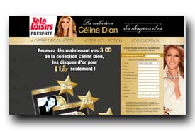 screenshot de www.collectioncelinedion.fr