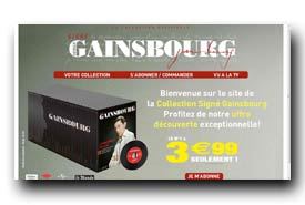 screenshot de www.collectiongainsbourg.com