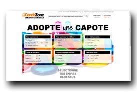 screenshot de www.condozone.fr/choix-preservatif.html