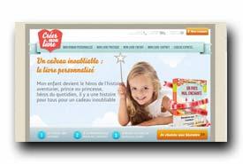 screenshot de www.creermonlivre.com/livres-enfant