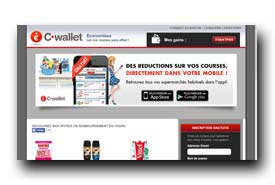 screenshot de www.cwallet.couponnetwork.fr