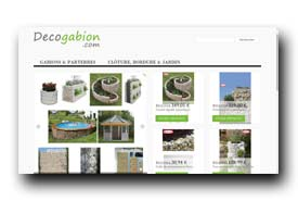 screenshot de www.decogabion.com