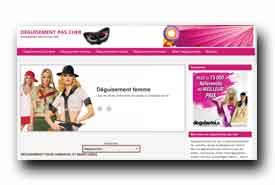 screenshot de www.deguisement-pas-cher.fr