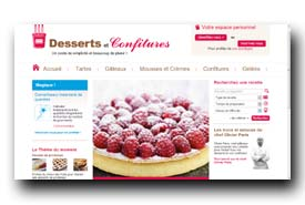 screenshot de www.dessertsetconfitures.com