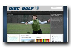 screenshot de www.disc-golf.fr