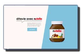 screenshot de www.dites-le-avec.nutella.fr