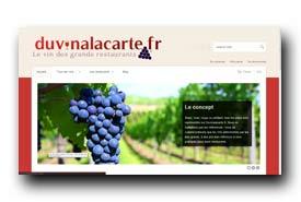 screenshot de www.duvinalacarte.fr