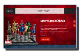 screenshot de www.eaglemoss.fr/marvel-echecs