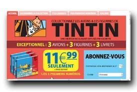 screenshot de www.enavion.tintin.com