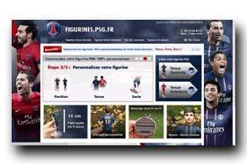 screenshot de figurines.psg.fr/figurine-personnalisee-psg-tenue-domicile.html