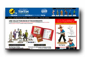 screenshot de www.tintin-collection-figurines.com