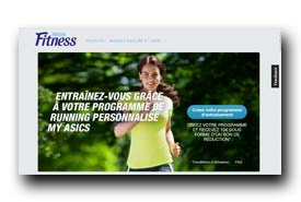 screenshot de fitnessmyasics.com