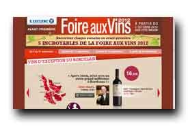 screenshot de www.foireauxvinsleclerc.com