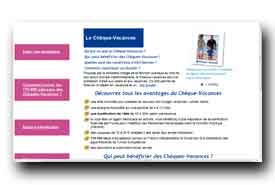 screenshot de www.fonctionpublique-chequesvacances.fr